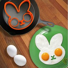 Kitchen cooking tools BUNNYSIDE UP molde de silicone fried egg mold Rabbit Pancake Ring Kid Gift surprise cooking eggs H142