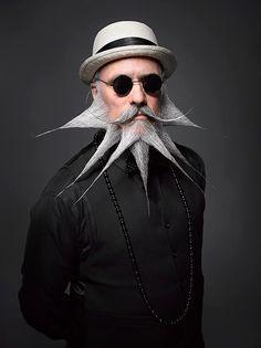 Fotografias impressionantes do Campeonato Americano de Barba e Bigode