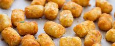 Homemade potato tots, cooked until crisp on the outside and fluffy inside. These tots have just 5 ingredients and are super simple to make.