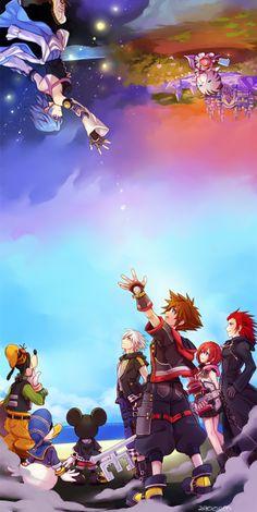 Roxas Kingdom Hearts, Kingdom Hearts Funny, Kingdom Hearts Wallpaper, Heart Wallpaper, Final Fantasy, Fantasy Art, Heart Artwork, Kindom Hearts, Game Art