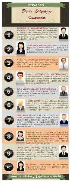 Decálogo de un liderazgo innovador #infografia #infographic #leadership