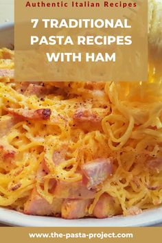 Italians love cooking pasta with ham. These 7 traditional and easy-to-make Italian pasta recipes with ham are delicious examples of how well-cooked ham goes with pasta. Suitable for kids and to enjoy with friends and family. #ham #hamrecipes #italianrecipe #pastarecipe #italianpasta #traditionalrecipe #thepastaprojec Summer Pasta Recipes, Creamy Pasta Recipes, Italian Pasta Recipes, Recipes With Cooked Ham, Ham Recipes, Dinner Recipes, How To Cook Ham, How To Cook Pasta, Traditional Pasta Recipe
