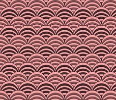 deco-dent_coordinate_scallop fabric by glimmericks for sale on Spoonflower - custom fabric, wallpaper and wall decals