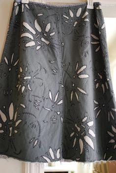 Chanin inspired skirt