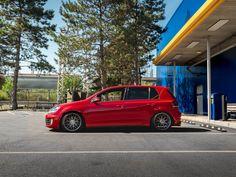 Tornado Red VW MK6 Golf GTI  sitting on Rotiform RSE Mk6 Gti, Vw, Golf, Wave, Polo Neck