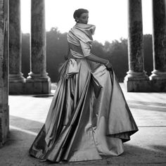 Wenda Parkinson in Christian Dior Dress, photographed by Clifford Coffin, 1948