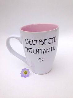 Becher & Tassen - Tasse für die Patentante ♥  Taufe Patentante - ein Designerstück von Hoch-Die-Tassen bei DaWanda