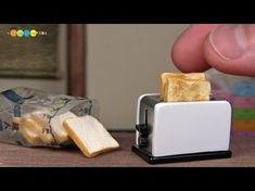DIY Miniature Pop up Toaster ミニチュアポップアップトースター作り - YouTube