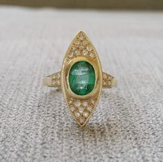 Antique Rose Cut Diamond Emerald Bohemian Engagement Ring Vintage Victorian Art Nouveau art deco Green evil eye Yellow 10k gold size 6.25 by PenelliBelle on Etsy https://www.etsy.com/listing/248505149/antique-rose-cut-diamond-emerald