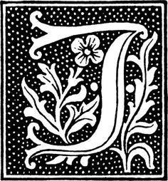 Beautiful letter J