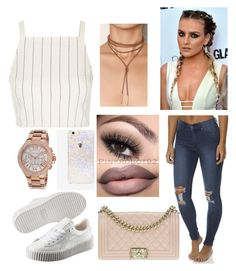 """""""Untitled #2828"""" by outfitstowear ❤ liked on Polyvore featuring Topshop, Cheap Monday, Puma, Chanel, Skinnydip and Michael Kors"""