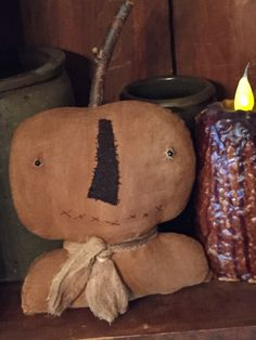 A personal favorite from my Etsy shop https://www.etsy.com/listing/241610760/very-primitive-pumpkin-shelf-sitter
