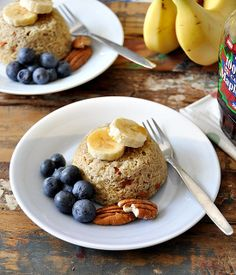 5 minutes banana & quinoa flakes microwave cakes | www.fussfreecooking.com by fussfreecooking, via Flickr