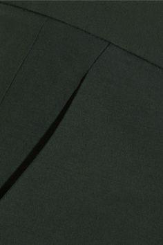 Antonio Berardi - Cotton And Wool-blend Wide-leg Pants - Forest green - IT50
