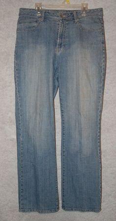 "Chicos Platinum Womens Denim Marquis Jeans Pants Size 1 Short 2 W 32"" L 29"" #ChicosPlatinum #BootCut"