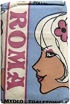 vintage packaging Poland Roma soap