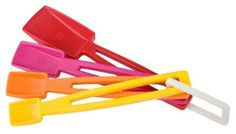 Zak Designs 4-Piece Measuring Spoon Set by Zak Designs. $7.84. Made of durable melamine. Safe to use in the dishwasher. Full product line available in color story. Peggable for easy storage. Measuring spoons coordinate is peggable for easy convenience and storage. Made of 100% melamine and dishwasher safe.