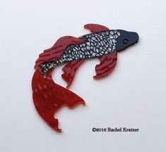 Beautiful addition for your mosaic koi pond. KOI FISH Precut Stained Glass Kit Mosaic Inlay Pond Stepping Stone Table Art #RachelKratzer