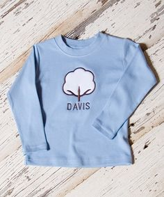 Look at this Lollypop Kids Clothing Light Blue Cotton Personalized Tee - Infant, Toddler & Boys on #zulily today!