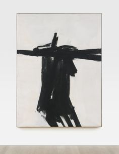 Franz Kline 1910 - 1962 FLANDERS signed and dated 1961 on the reverse; titled on the stretcher oil on canvas 79 x 59 in. Franz Kline, Tachisme, Action Painting, Painting Lessons, Painting Art, Willem De Kooning, Abstract Expressionism Art, Abstract Art, Abstract Paintings