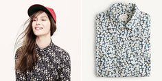 J.Crew delved into the Liberty of London archives in search of romantic, floral prints for their best selling 'perfect shirt'. I want one!