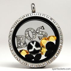Boston hockey themed locket necklace from SportLockets.com. Customize with your own letters!