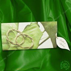 Faire-part de mariage pochette feuille verte - ML13-039 - Régalb J-582 | Faire-part.fr