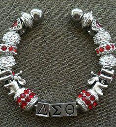 Delta Sigma Theta Cuff bracelet