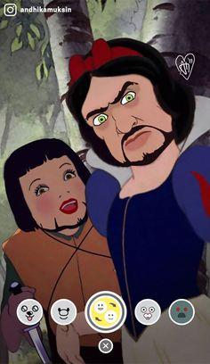 Artist Reimagines Disney Princesses In A More Realistic Way. Andhika Muksin is entranced with Disney. He has been photoshopping Pocahontas, . Humour Disney, Disney Jokes, Funny Disney Memes, Cartoon Memes, Cartoons, Spongebob Memes, Funny Jokes, Dark Disney, Disney Art