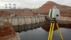 The only 3D Laser Scanner we use at P2P - Leica ScanStation C10 scanning the Glen Canyon Dam Spillways on the Arizona-Utah border. Darling Environmental & Surveying, Ltd. performing this scan. Great shot guys!
