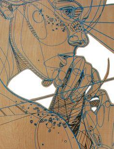 "Jason Thielke ""Visionary"". Aww, a sweet variation on lasercut wooden everything."