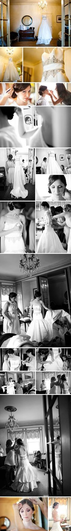Cute wedding photo poses of Bride getting ready