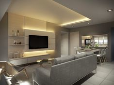 Ang Mo Kio  - HDB 4 Room - Living Room. Design by Designscale Pte Ltd