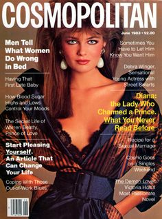 Cosmopolitan magazine (my mom gets me a subscription) but I remember the cosmo covers were a big deal in the & Paulina was on JUNE 1983 Model: Paulina Porizkova Photographer: Francesco Scavullo Paulina Porizkova, Cosmopolitan Magazine, Instyle Magazine, Covergirl Makeup, Kelly Emberg, Francesco Scavullo, Fashion Magazine Cover, Magazine Covers, Cosmo Girl