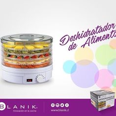 Con el deshidratador de alimentos #Blanik disfrute todo el año de frutas y verduras con mínimas pérdidas de vitaminas sin utilizar sustancias nocivas. Encuéntralo sólo en #Blanik  http://ow.ly/XnpnW