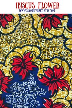 African wax print fabric via Suomiifabrics: etsy.me/1LAeqPi