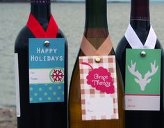 wine bottle gift tags | ... wine bag and instead, placing one of these tags on your wine bottle