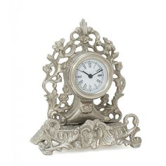 Clock With Pewter Finish
