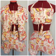 821da1de1b5 Early 1950s Hawaiian Playsuit set surfriders Sportswear sz xs