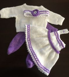 "Spring outfit for 14"" baby doll http://www.ravelry.com/patterns/library/baby-doll-jumper-sweater-tights-headband"