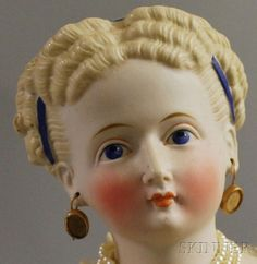 parian dolls   Parian Lady Doll with Elaborate Hairstyle   Sale Number 2565M, Lot ...