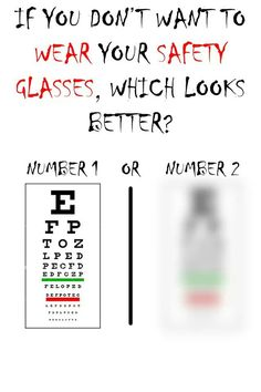 e4394527a4de Wear your protective safety eyewear!! It really is an important part of  your uniform