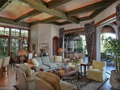 I love these painted ceiling beams.  Bay Colony Shores | Naples, Florida