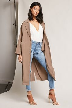 I want a new fall jacket! [Oversized Single-Breasted Trench Coat $68 via Forever 21] #fallfashion #jacket Fitness | Lifestyle | Beauty | Fashion | Inspiration @ ShyneandInspire.com