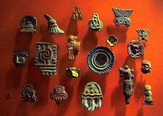 Teotihuacán incense burner ornaments.