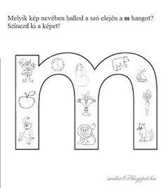 Játékos tanulás és kreativitás: Kisbetűkben képek a hangfelismerés gyakorlásához Dysgraphia, Aphasia, Pre School, Worksheets, Literature, Language, Lily, Classroom, Letters