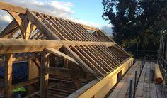Oak frame with SIPs panels by Castle Ring Oak Frame