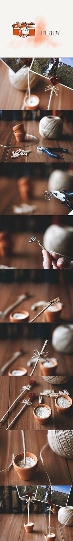 photo / holder / diy / craft / simply / decoration