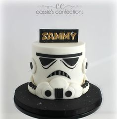 """45 Likes, 6 Comments - Custom Cakes & Handmade Sweets (@cassiesconfections) on Instagram: """"Storm trooper cake! #starwars #stormtrooper #starwarscake #starwarsbirthday #cassiesconfections"""""""