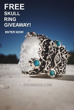 Win a FREE Crystal Skull Ring from RXV Rings! Sign up before it's too late. Refer your friends and family to increase your chances of winning!